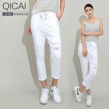 Ханчжоу отправить бутик весна отверстие девять женщин случайные штаны эластичный пояс узкие брюки женский ковбойские Харен.
