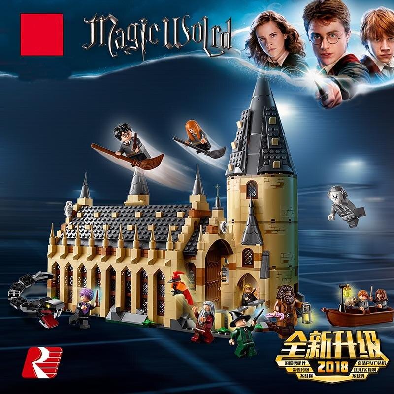 Шт. 983 16052 2018 шт. Харри Поттер серии Хогвартс большой зал Строительные блоки Кирпич развивающие игрушки Совместимость Legoing 75954