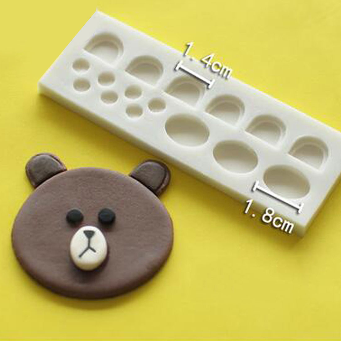 DIY Cartoon Animal Bear Toy 3D Silicone Mold Fondant Soap Cupcake Jelly Candy Chocolate Decoration Baking Tool Moulds