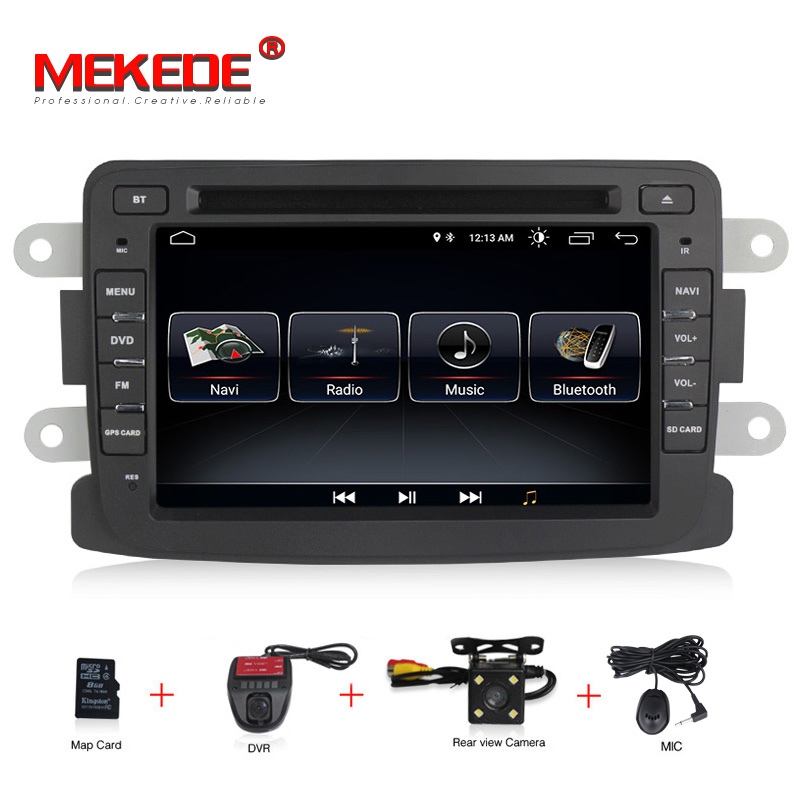 Frete grátis Quad Core Android Pure car dvd Rádio de Navegação GPS Para Renault Duster Logan Sandero Dacia Lada Raio X wi-fi BT + MAPA