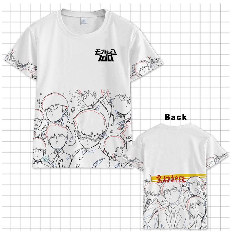 Hot Japan Anime Mob Psycho 100 T-shirt Mobu Saiko Hyaku T shirt Men Women Short Sleeve Summer Cartoon Tops Unisex t