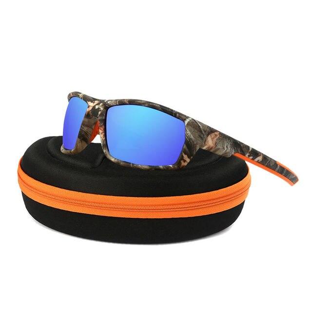 Camo Óculos Polarizados Óculos de Sol Das Mulheres Dos Homens Esportes  Eyewear UV400 Pesca Ciclismo Óculos 9d28c78cb1