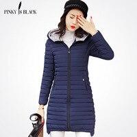Pinky Is Black 2017 Spring Jacket Women Fashion Women Winter Coat Slim Long Sleeve Cotton Winter