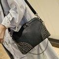 Remache bolsa de las mujeres Bolsos de Moda Bolsas de Mensajero pequeño mini Bolso de Las Mujeres