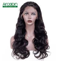 Body Wave Lace Front Wig AirCabin Remy Hair Wigs With Baby Hair Natural Black 8 24 Brazilian Lace Front Human Hair Wigs