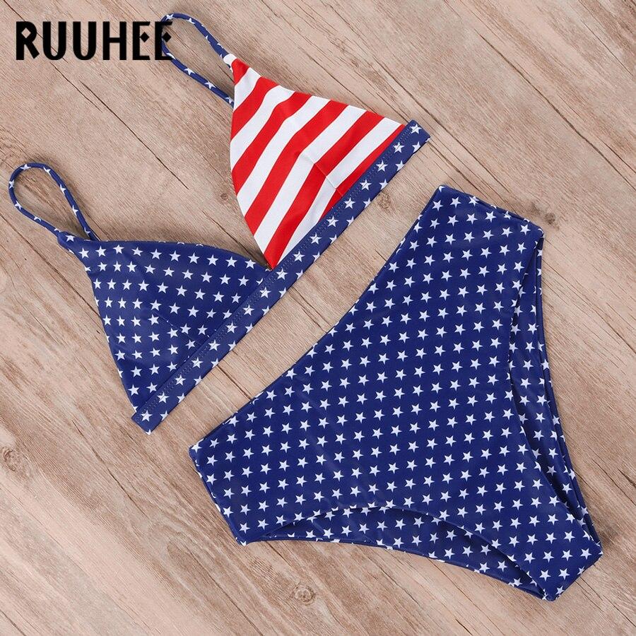 HTB1wjNueoCF3KVjSZJnq6znHFXak RUUHEE Bikini 2019 Swimwear Women Swimsuit High Waist Bikini Set Push Up Bathing Suit Women Beach wear Maillot De Bain Biquini