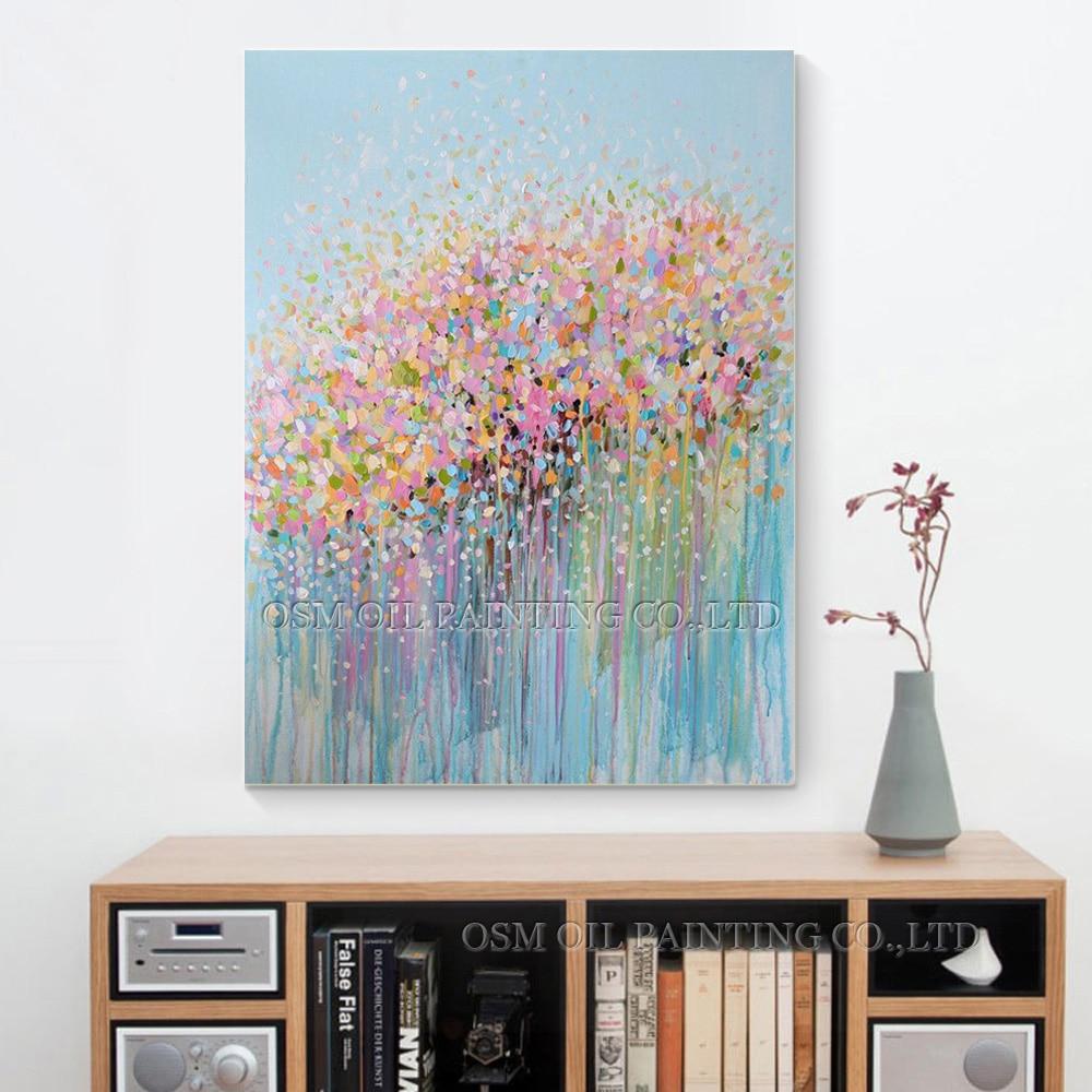 Pintura al óleo abstracta para la decoración de la pared Imagen - Decoración del hogar