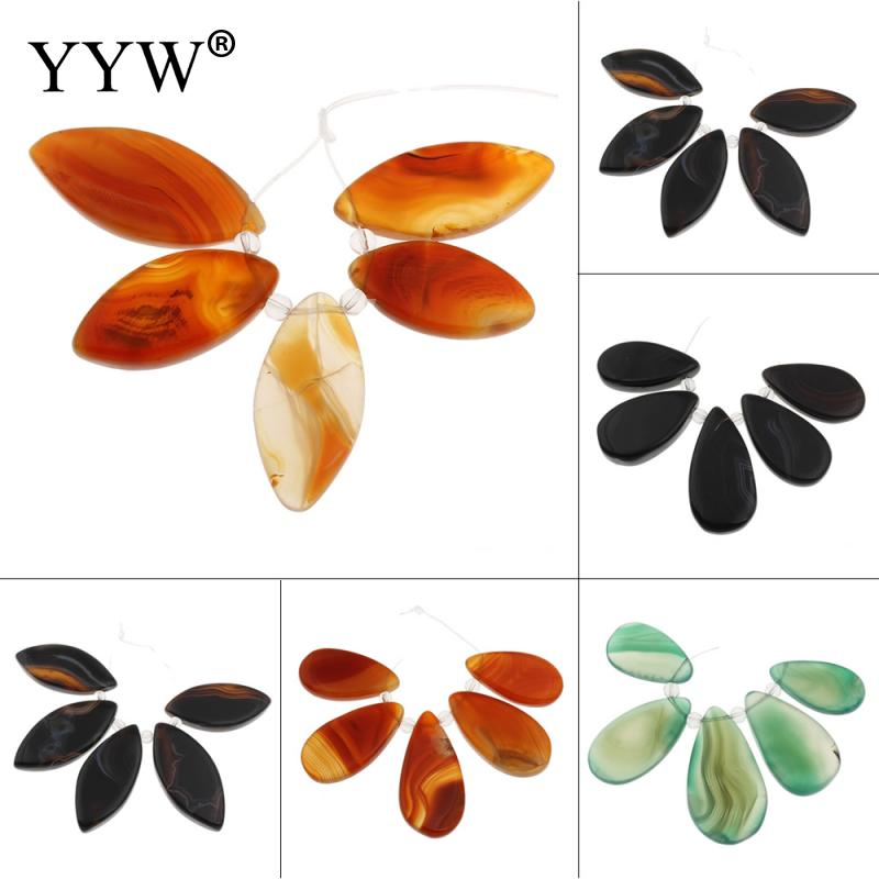Natural Lace Pendants mixed colors water drop beads 18.5x39x5.5 mm-20x44x6mm Hole:Approx 1mm 5PCs/Set