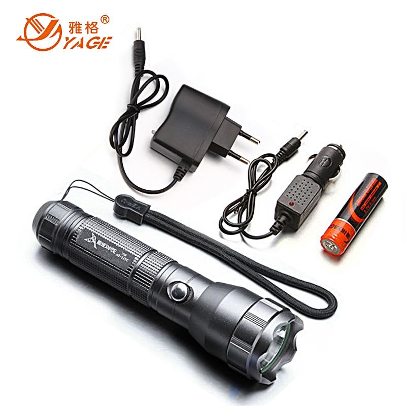 YAGE Cree Flashlight Shock Resistant Flashlight 18650 ...