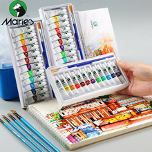Buy Marie's Gouache Painting Paint Set Transparent 5ML Gouache Pigment For School Student Children Graffiti Hand-painted Art directly from merchant!