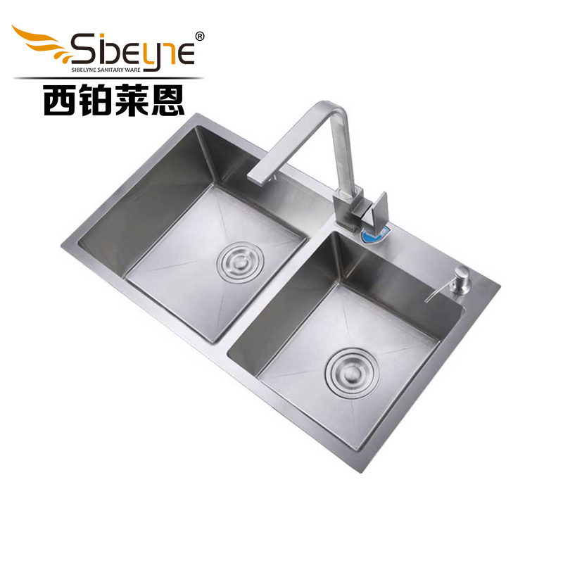 Itas9902 304 stainless steel double bowl topmount kitchen sink wash itas9902 304 stainless steel double bowl topmount kitchen sink wash the pot handmade 75cm41cm in kitchen sinks from home improvement on aliexpress workwithnaturefo