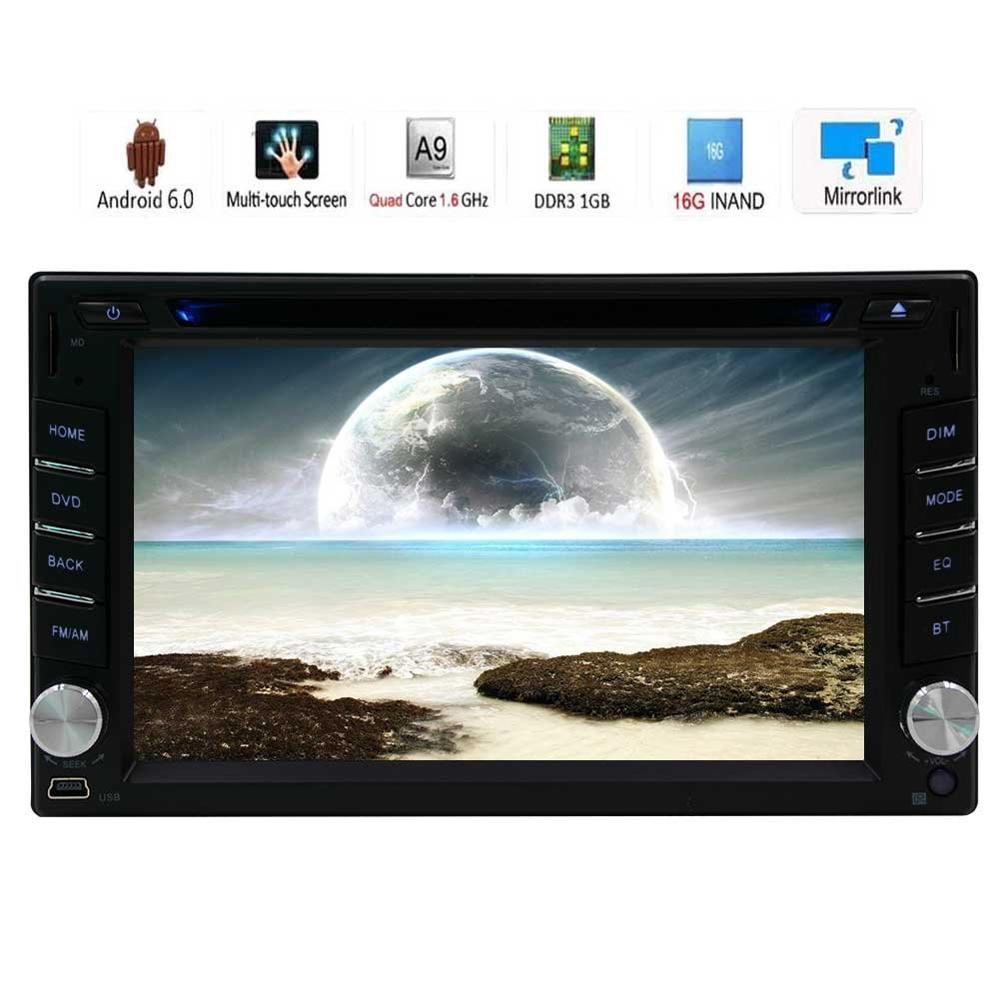 Double 2Din Android 6.0 Car gps dvd radio Stereo with Car DVD Player GPS Navigation Auto Radio WiFi Mirrorlink SW Control CAM IN