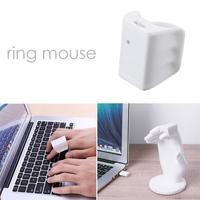 White Bluetooth BLE4 0 USB Mini Motion Sensor Input Wireless Finger Wearing Optical Mouse For PC