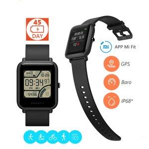 Smartwatch xiaomi huami amazfit, original, bip, bit pace lite, jovens, tela colorida de reflexão, 1.28