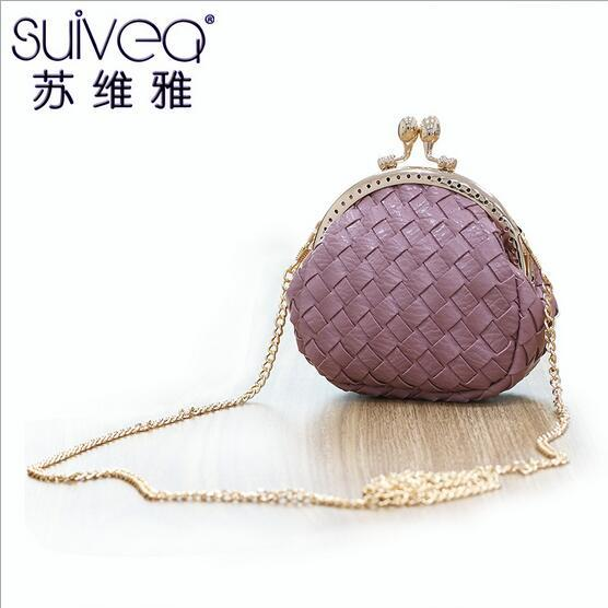 Spring/summer 2016 new female wallet Original design hand-woven one shoulder link packet Free shipping mini zero purse