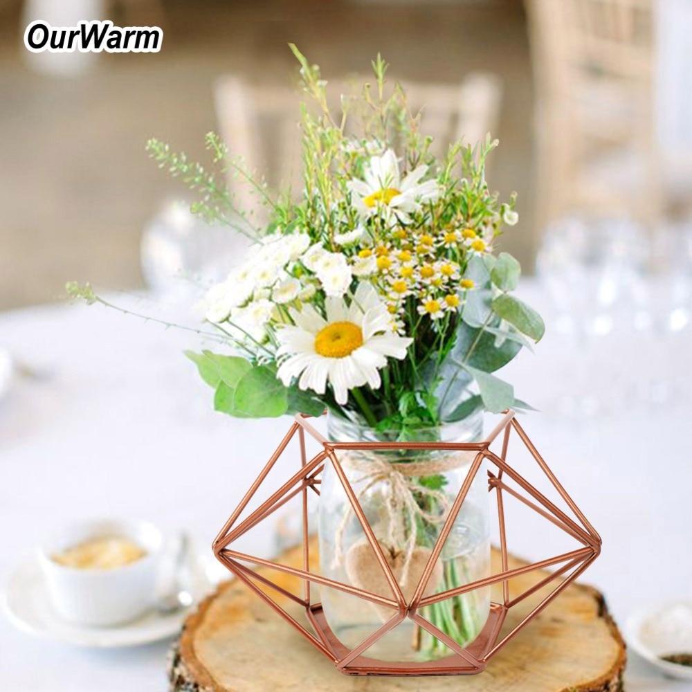 OurWarm Geometric Vase For Wedding Table Decoration