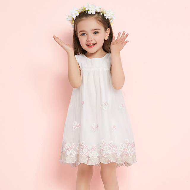 Girls Summer Dress 2018 Casual Girls Dress Children Clothing Ball Gown Mesh  Lace Kids Clothes Party a8f190c2f88d