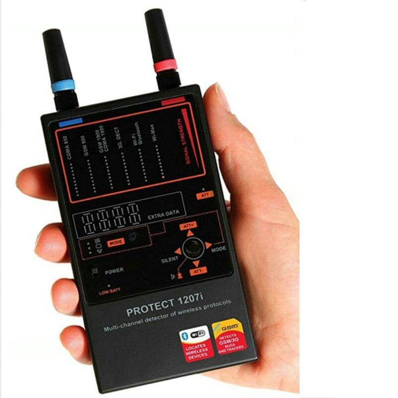 Détecteur de bogue professionnel sans fil de détection Radio GSM/CDMA/3G/4G Anti-Signal espion caméra cachée GSM Audio détecteur de bogue 4G GPS