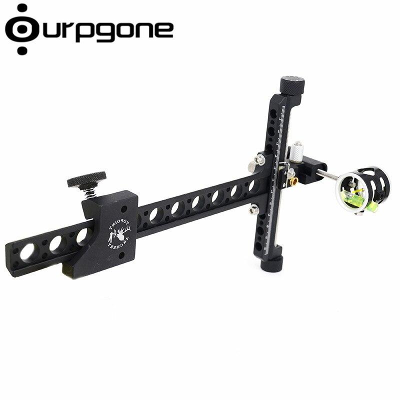 OurpgoRecurve Bow Aluminum Machined 1 Pin 0.059