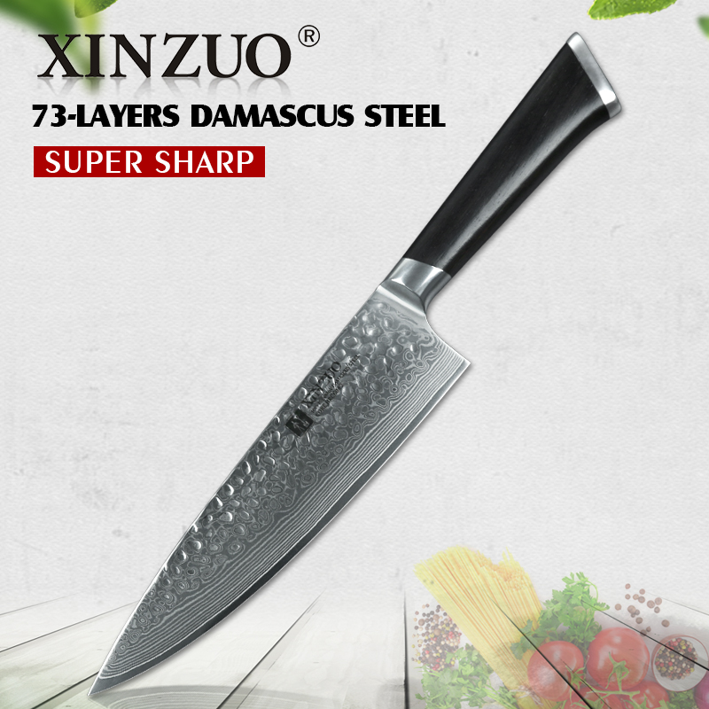XINZUO 8  chef knife 67 layer Japanese Damascus stainless steel kitchen knife senior meat/vegetable knife ebony wood handle