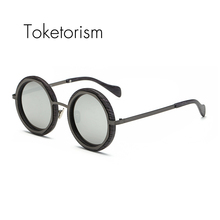 Toketorism Trend sunglasses round frame mirrored shades men women fashion oculos polarizado 0299