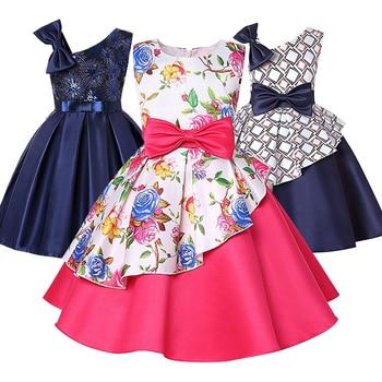 581c3ef43 Ropa de verano para niños vestido de niña estampado a cuadros vestido de  cumpleaños de boda elegante princesa fiesta vestidos de niña