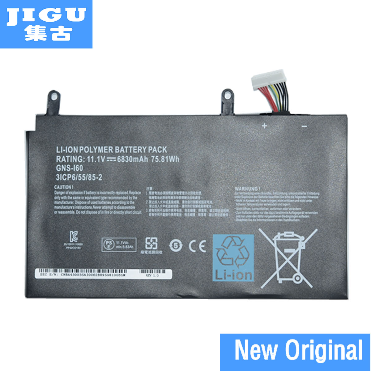 JIGU Original Laptop Battery GNS-160 GNS-I60 961TA010FA FOR GIGABYTE P35G v2 P35K P35W V2 P35X V3 P37X V5 P57W P57X V6 14 8v 73 26wh 4950mah gx 17s new original gx 17s laptop battery for gigabyte aorus x3 x3 plus v3 x7 x7 v2 x3 plus v5 x5s