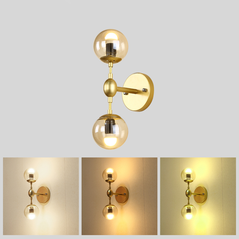 European Industrial Gold Wall Sconce