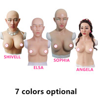 C E Cup Artificial Boobs Silicone Breast Forms Realistic Fake Silicone Face For Transgender Crossdresser Transvestism Dragqueen