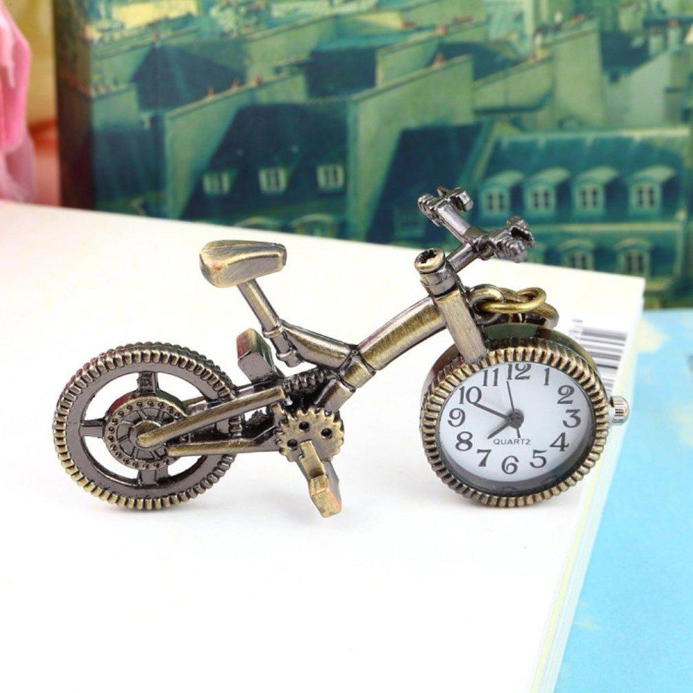 Fashion New Clock Unisex Retro Bronze Alloy Bicycle Pocket Watch Keychain Women Men Watches