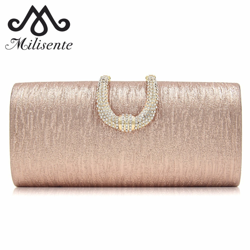 Milisente Women Clutch Bag Ladies Evening Bags Female Party Clutches Purse With Chain milisente brand women evening bags top quality fantasy rose party purse clutches wedding bag
