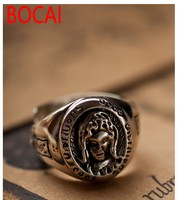 925 Sterling Silver Jewelry Virgin Mary Picture Male And Female Models Open Ring 032881w