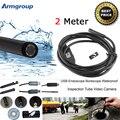 USB Endoscope Camera 2M Lens Snake Tube Camera Mini USB Borescope Inspection Camera for PC Waterproof Endoscopio Camera