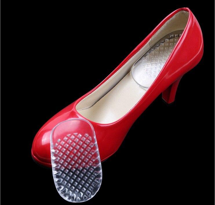 Новый одна пара 3D прозрачность Гель Пятки площадку для обувь силиконовый гель комфорт каблука Чашки Стельки Подставки защиты Средства уход...
