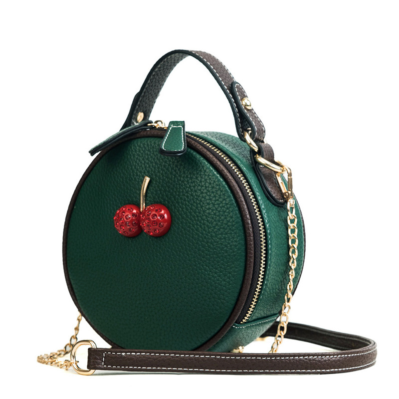 9cb81f259c71 Mnee Women Leather Handbag Women Small Cherry Shoulder Bag Vintage Shell Hand  bag Summer Designer Crossbody
