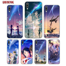 Transparent Soft Silicone Phone Case Japanese anime Your Name for Samsung Galaxy S10 S10e Plus S10+ M10 M20 Cover