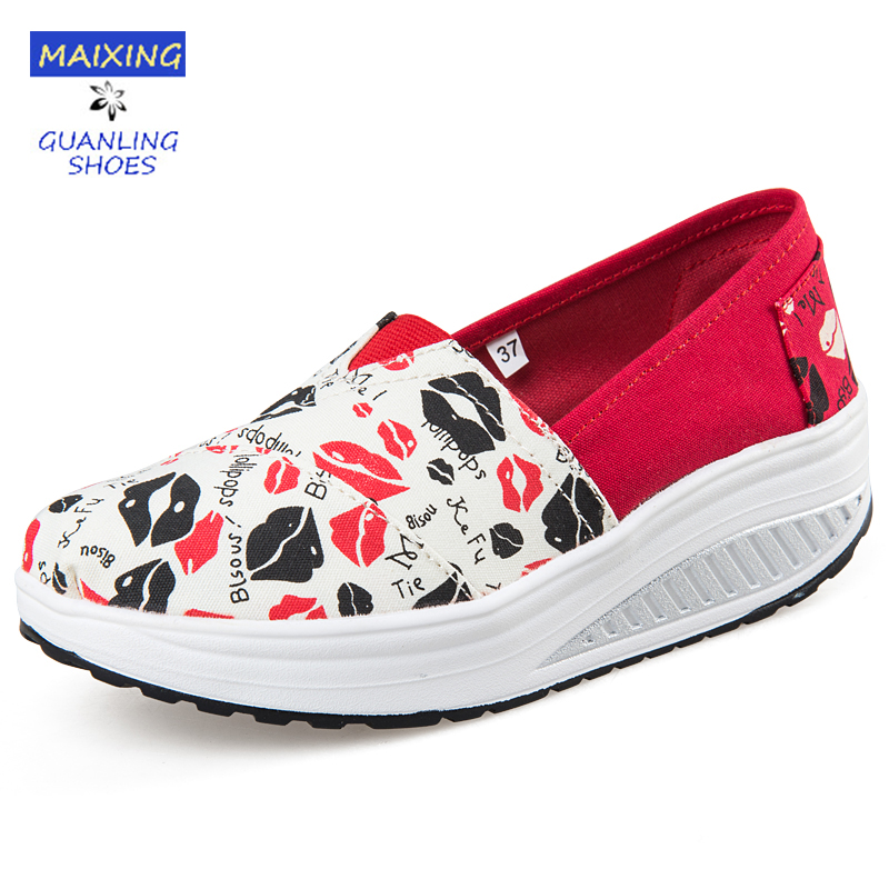 New Breathable air mesh fitness slimming shoes women lace up platform casual shoes low top height increasing swing shoes wedges 2016 new vintage women casual shoes fashion good pu leather breathable lace up low platform women shoes xwc344