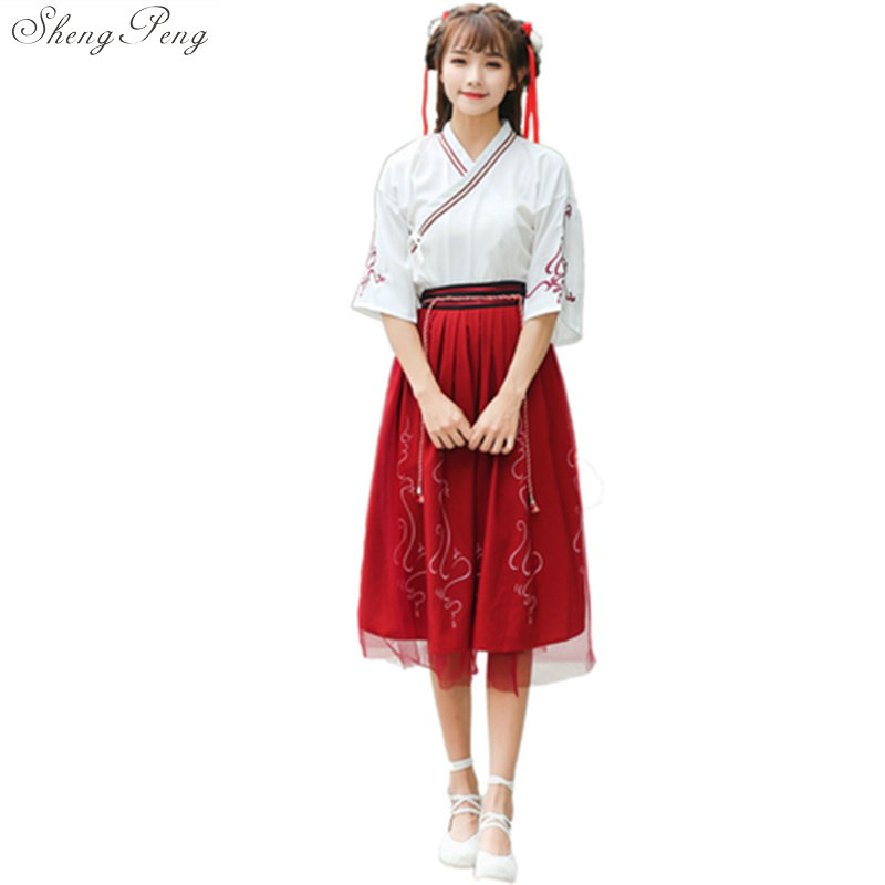 2018 autumn high end stage chinese costume clothes traditional hanfu female princess embroidered hanfu chinese folk