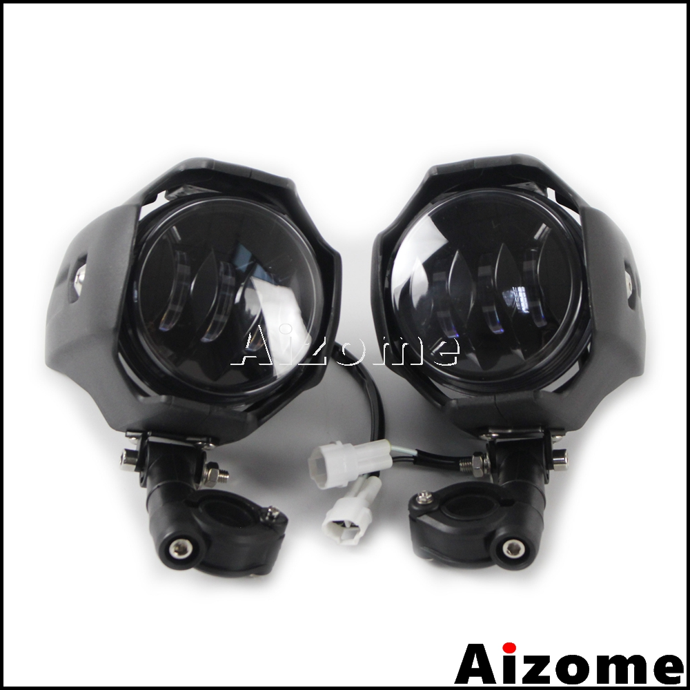 1 Pair Adjustable Led Fog Lights Driving Lamps Motorcycle