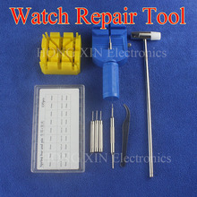 Durable Watch Band Link Remover Repair Tool Kit Set+Hammer +Watch Strap Holder+Spring+Pins Convenient Accessories 8-25mm