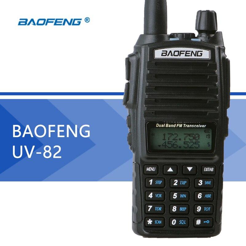 imágenes para Baofeng uv-82 walkie talkie de doble banda baofeng uv82 linterna de doble pantalla de dos vías de radio 128ch dual reloj para la caza radio
