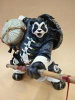 Children's gift High quality color box packaging panda man Garage Kits