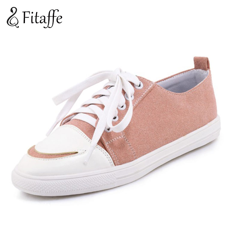 Fitaffe Women's Shoe Casual Shoes for Women Flat Shoes Ladies Lacing Loafers Zapatos Mujer Breathable Platform White Shoes GD025 summer women shoes sweet cutouts lace women s flat shoes hollow breathable platform women canvas shoe casual loafers zapatos