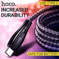 Hoco usb typ c kabel schnelle lade usb c ladegerät usbc draht edelstahl geflecht usb-c kabel daten sync c typ kabel für Android