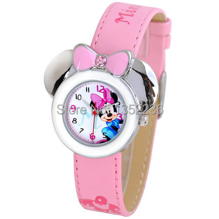 freeshipping Original children Korean watch cute girl edition mouse students diamond snow white minnie - alienbaybay store
