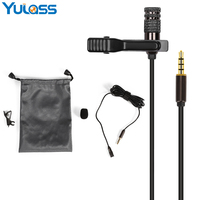 Yulass Mini Microfono Lavalier Esterno, 3.5mm Jack Mic Auricolare Microfono Mobile per il iphone 7 6 s Più, Smartphone Android
