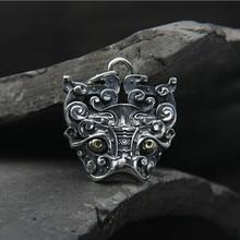 цена на Original Design Ancient Animal Gluttonous Pendant 925 Silver Retro Personality Thai Silver Jewelry Men Women Pendant