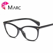MARC 2019 NEW Trend Vintage Cat eye Brand Glasses Women Clear Lens Frame Ladies Optical Eyeglasses 95171