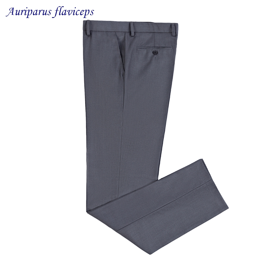 New Summer Style Men Wool Blend Grey Suit Pant Business Casual Dress Pants Thin Trousers For Man Classical Grey Pant