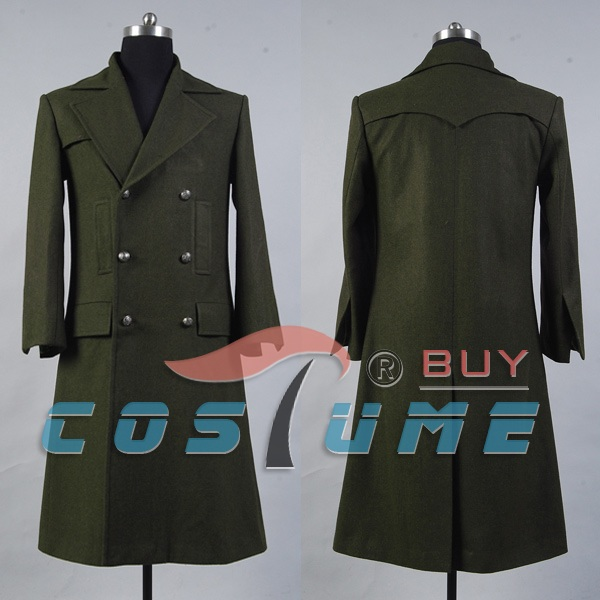 Who is Doctor Dr. Dark Green Long Wool Trench Coat Cape Jacket Cosplay Costume For Men Halloween costume